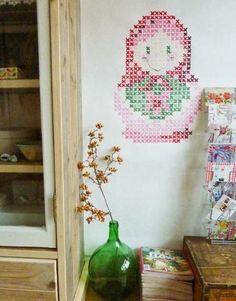 Mar&Vi Creative Studio - España: Decoración: Murales pintados con punto de cruz