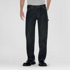Dickies Relaxed Straight Fit Denim Carpenter Jean- Khaki Tint 30X32