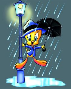 Tweety image #812 - Singing in the Rain Tweety -  View popular images and share on Facebook, WhatsApp and Twitter.