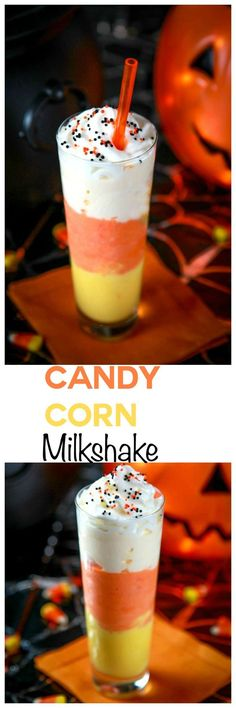 Candy Corn Milkshakes: Simple, fun, and perfect for Halloween!