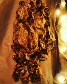 Superfood dyed silk. Artist: Fiona Martin.