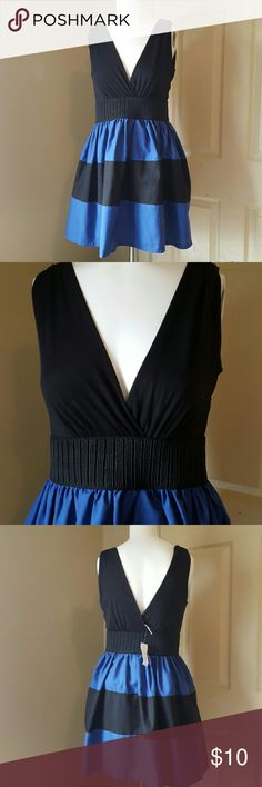 Womens cocktail dress Super cute black and blue little dress. Nwt. marquis Dresses