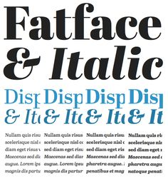 Abril Fatface by TypeTogether