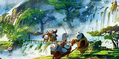 Kung Fu Panda 3 - Environment/Concept Art