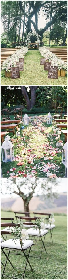 Country Weddings » 25 Rustic Outdoor Wedding Ceremony Decorations Ideas » ❤️ See more: www.weddinginclud...