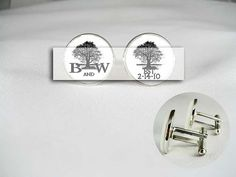 custom initial name date circle of life tree by VICTORIANCUFFLINKS, $39.99