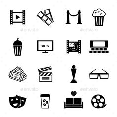 Buy Black and White Movie Icon Designs by on GraphicRiver. Graphic Designs – Black and White Movie Icons on White Background Business Brochure, Business Card Logo, Vector Design, Graphic Design, Frame Template, Templates, Iconic Movies, Creative Sketches, Paint Markers