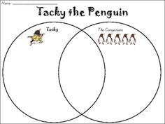 Tacky the Penguin Venn Diagram and other free activities to go with the book