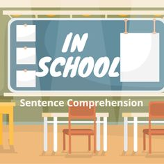 Boom Cards - In School: Sentence Comprehension Wh Questions, This Or That Questions, Auditory Processing, K 1, Speech Therapy, Comprehension, Free Photos, Sentences, Encouragement
