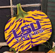 LSU Tigers, game day pumpkin from Roundtop Collection. #GLSU401, Now available at CardSmart, Houston, Tx 713-669-9711