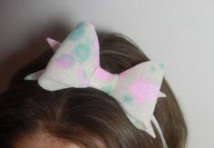 These Cotton Candy Bows are hand crafted with care. Each bow has been hand dyed using light pink and blue colors, making each one different and one of Blue Colors, Baby Headbands, Cotton Candy, Tie Dye, Bows, Children, How To Make, Pink, Crafts