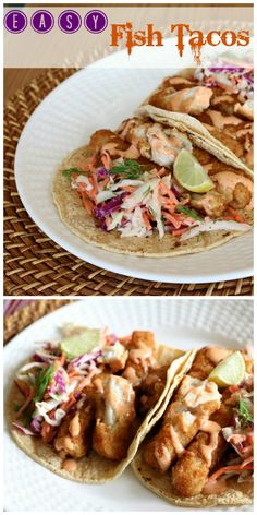 Simple Fish Tacos wi