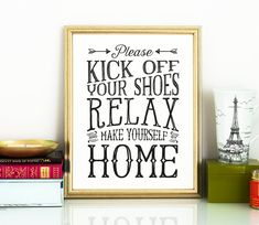 Take your shoes off sign, kick off your shoes, PRINTABLE art mud room art,entry room art,printable decor,housewarming gift,last minute gift