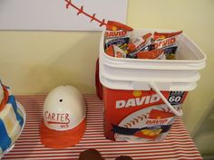 Sunflower Seed Team Bucket for Baseball Party