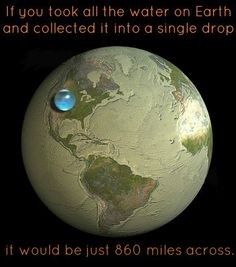Earth and its Water  Over 70% of the Earth's surface is glazed with glistening ocean. This, of course, is where the phrase 'The Blue Marble' originated from. All this water accounts to a total volume equal to 1.3 billion cubic kilometres – but did you know that according the model of the Sun's proto-planetary disk, Earth actually has a deficit of this familiar and life sustaining substance?  Astronomers studying how the Earth initially formed have been stuck tryin