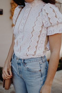 Five White Tops You Can Wear This Season! (Yes, AFTER Labor Day!) #fashion #style #outfit #lace #lacetop