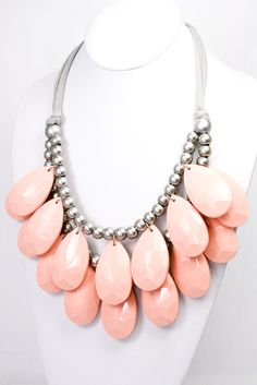 $16 @Loveleeboutique pink teardrop necklace // Love Lee Blog: Fashion for a Cause #bcam
