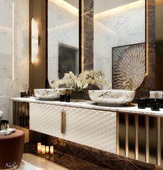 Modern Luxury Bathroom, Modern Kids Bedroom, Bathroom Design Luxury, Luxury Interior Design, Bathroom Interior, Bathroom Vanity Designs, Best Bathroom Designs, Home Design Decor, House Design