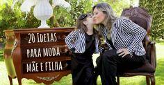 Que menina não adora brincar com as roupas da mãe?A moda mãe e filha é encantadora. Existem conjuntos, calças, vestidos ou blusas feitas para mulheres adultas e para crianças de várias idades.