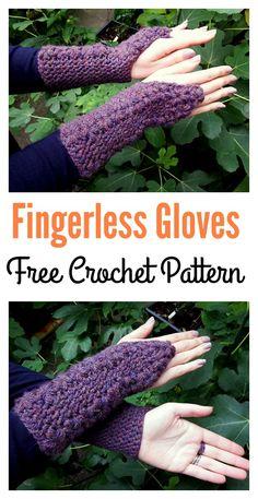 Flower Trails Fingerless Gloves Free Crochet Pattern