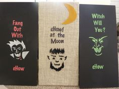 Halloween Picture Frame All Set For The Holiday Halloween - Cool chalkboard halloween decor