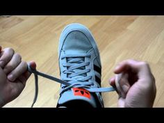 We all know how to tie our shoes, but what if there were a way to do it faster? Let 'bobbytv' show you how to tie a shoelace in 2 seconds. Tie Shoes, Your Shoes, No Tie Laces, Tie Shoelaces, Pretty Cool, Projects For Kids, Fashion Art, Life Hacks, Adidas Sneakers