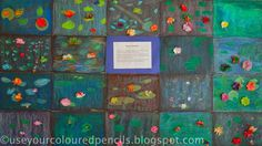 Use Your Coloured Pencils: Monet's Water Lilies