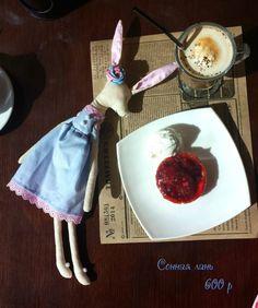 """Сонная лань, игрушка лань, игрушка ручной работы, handmade, """"принцесса Надя"""""""