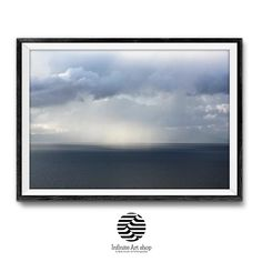 Dramatic Stormy Cloudy Sky Over Ohrid Lake,Clouds Wall Art,Digital Download. | Infinite Art Shop  #cloudswallart #ohridlakeprint #coastal #landscapephotography #digitaldownload #largeprint #modernwalldecor #livingroomdecor #printable #mitkoperoskiphotography #lakeprint #