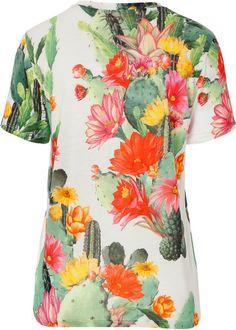 Matthew Williamson Cactus Garden Print Tshirt in Floral (multicolor) - Lyst