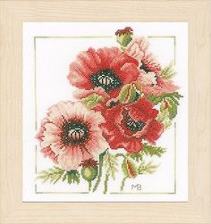Anemone  Bouquet :  Lanarte Counted Cross Stitch Kit - PN0157496