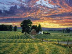 'Farm Sunset' by Randy Van Beek