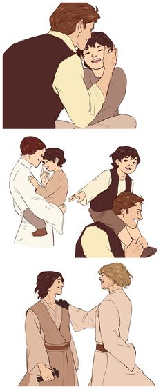 Ben and Han, Leia and Luke.