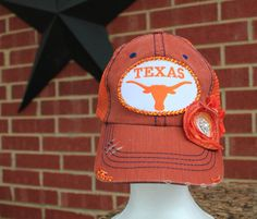 Texas Longhorns Baseball Distressed Style Hat EXTRA by iheartmoes, $40.00