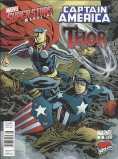 Marvel Superstars magazine Captain America and Thor kids comic