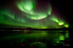 Auroras Boreales desde Tromsø, Noruega.-