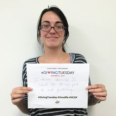 Joining the #Unselfie trend that ran in conjunction with #GivingTuesday, HCAP Americorps VISTA volunteer Brittany Wilson shares how she helps out.