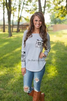 The Pink Lily Boutique - Go The Cozy Route Top , $35.00 (http://thepinklilyboutique.com/go-the-cozy-route-top/)