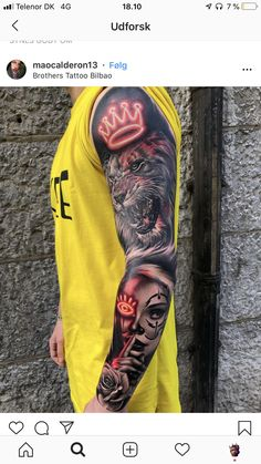 Lion Forearm Tattoos, Lion Head Tattoos, Forarm Tattoos, Leo Tattoos, Badass Tattoos, Forearm Tattoo Men, Body Art Tattoos, Lion Tattoo Sleeves, Best Sleeve Tattoos
