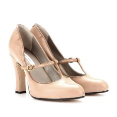 mytheresa.com - Mary-Jane leather pumps - Luxury Fashion for Women / Designer clothing, shoes, bags on Wanelo