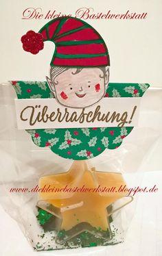Weihnachten Jolly Friends Drauf und dran Stern Honigkerze Mitbringsel Goodie