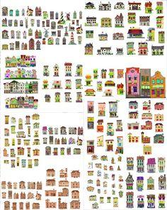 Vector Graphics - Drawing Buildings / Cartoon Buildings