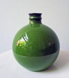 1x Vase. Melitta Green . Apple Green. Ceramics Sixties. Echt