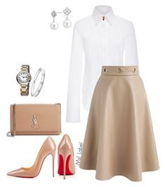 """""""Casual"""" by ms1-ltu on Polyvore featuring Khaite, Yves Saint Laurent, Chicwish, Christian Louboutin, Cartier and Blue Nile"""