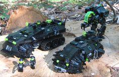 Neo Blacktron ground vehicles. By Eurobricks.com user 'Blacktron'.