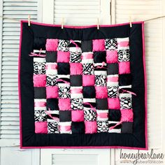Pink Sapphire Puff Quilt READY TO SHIP by HoneybearLane on Etsy, $169.00