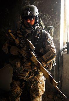 German Army designated marksman w. G3ZF DMR