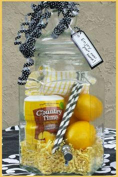 Ideas to Show Love with DIY Christmas Gift Baskets Lemonade dispenser christmas gift basket The post Ideas to Show Love with DIY Christmas Gift Baskets & Geschenke appeared first on Gift . Raffle Baskets, Diy Gift Baskets, Christmas Gift Baskets, Diy Christmas Gifts, Basket Gift, Summer Gift Baskets, Fundraiser Baskets, Unique Gift Basket Ideas, Liquor Gift Baskets