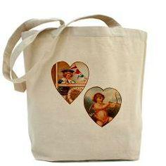 Vintage Antique Victorian Angel Sailor Hearts Tote> Vintage Antique Victorian Angel Sailor Hearts> Pattern Designs