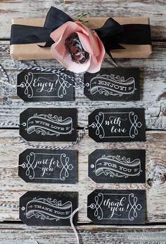 Free Printable Chalkboard Gift Tags